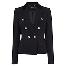 Buy Karen Millen Velvet Tuxedo Jacket, Black Online at johnlewis.com