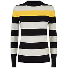 Buy Jaeger Stripe Crew Jumper, Multi Online at johnlewis.com
