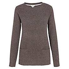 Buy Fat Face Farringdon Cashmere Jumper, Chocolate Online at johnlewis.com