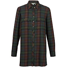 Buy Fat Face Tabitha Check Longline Shirt Online at johnlewis.com