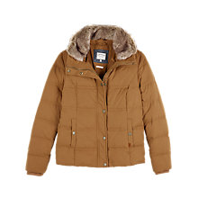 Buy Fat Face Poppy Puffer Jacket, Cumin Online at johnlewis.com