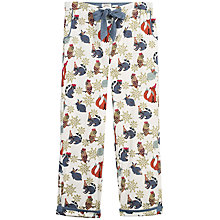 Buy Fat Face Party Animals Classic Print Pyjama Bottoms, Navy Online at johnlewis.com