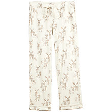 Buy Fat Face Winter Stag Print Pyjama Bottoms, Ivory Online at johnlewis.com