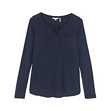 Buy Fat Face Notch Neck Long Sleeve T-Shirt Online at johnlewis.com