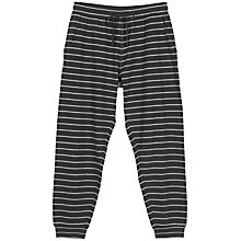 Buy Fat Face Westbury Stripe Cuffed Pyjama Bottoms, Charcoal Online at johnlewis.com