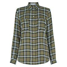 Buy Oasis Check Shirt, Khaki Online at johnlewis.com