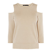 Buy Karen Millen Metallic Cold Shoulder Detail Jumper Online at johnlewis.com