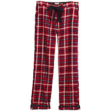 Buy Fat Face Mini Star Jacquard Check Pyjama Bottoms, Poinsettia Online at johnlewis.com