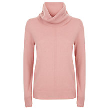 Buy Jaeger Cashmere Cowl Neck Jumper, Pale Pink Online at johnlewis.com