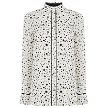 Buy Warehouse Star Print Shirt, White Online at johnlewis.com