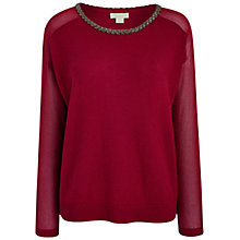 Buy Celuu Kaitlin Metallic Jumper With Beaded Neckline Online at johnlewis.com