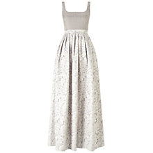 Buy Adrianna Papell Sleeveless Beaded Jacquard Gown, Silver Online at johnlewis.com