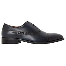 Buy Dune Rebeche Brogue Shoes, Blue Online at johnlewis.com