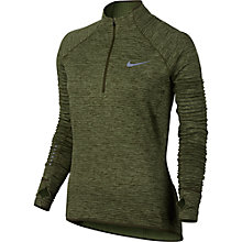 Buy Nike Sphere Element Long Sleeve Running Top, Legion Green/Palm Green Online at johnlewis.com