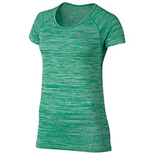 Buy Nike Dri-Fit Knit Short Sleeve T-Shirt, Stadium Green Online at johnlewis.com