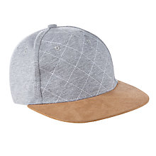 Buy John Lewis Children's Flat Peak Baseball Cap, Grey Online at johnlewis.com