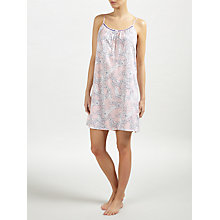 Buy John Lewis Martha Floral Chemise, Melon/Navy Online at johnlewis.com