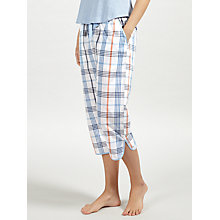 Buy John Lewis Lilian Check Cropped Pyjama Bottoms, Ivory/Blue Online at johnlewis.com