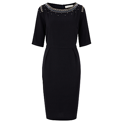 Sugarhill Boutique Betty Embellished Shift Dress, Midnight Blue