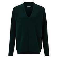Buy Jigsaw Horizontal Rib V-Neck Jumper Online at johnlewis.com