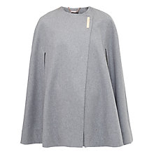 Buy Ted Baker Dazila Studded Cape, Grey Marl Online at johnlewis.com