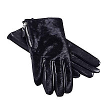 Buy Hobbs Nadine Gloves, Black Online at johnlewis.com