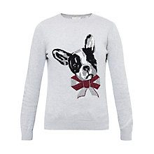 Buy Ted Baker Henie Merry Woofmas Jumper, Mid Grey Online at johnlewis.com
