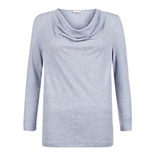 Buy Hobbs Jeana Tee, Pale Blue Marl Online at johnlewis.com