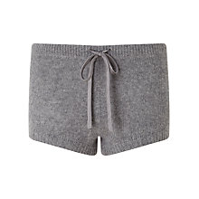 Buy Jigsaw Cashmere Lounge Shorts, Light Grey Mel Online at johnlewis.com