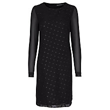 Buy Sugarhill Boutique Hallie Swiss Dot Tunic Dress, Black Online at johnlewis.com