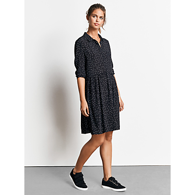 hush Azalea Dress, Black/Ecru Star Print