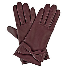 Buy Hobbs Alice Bow Leather Gloves Online at johnlewis.com