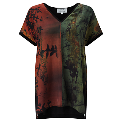 Jigsaw x Antonio Curcetti Autumnal Night Silk Front Jumper, Multi