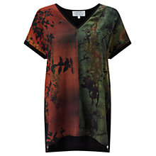 Buy Jigsaw x Antonio Curcetti Autumnal Night Silk Front Jumper, Multi Online at johnlewis.com