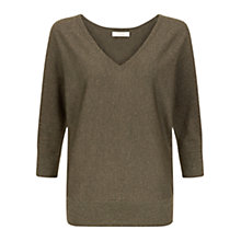 Buy Hobbs Marla Jumper, Khaki/Gold Online at johnlewis.com