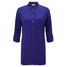 Buy East Oversized Crepe Shirt, Purple Online at johnlewis.com