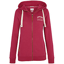Buy Fat Face Heritage Zip Through Hoodie, Ponsietta Online at johnlewis.com