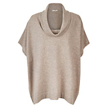 Buy Hobbs Daya Poncho, Taupe/Marl Online at johnlewis.com