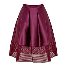 Buy Ted Baker Jurisa Mesh Panelled Full Skirt, Deep Purple Online at johnlewis.com