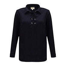 Buy East Tie Front Blouse, Sapphire Online at johnlewis.com