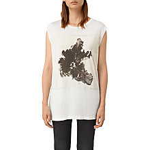 Buy AllSaints Tulipa Brooke T-Shirt, Chalk White Online at johnlewis.com