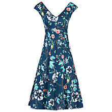 Buy Jolie Moi Floral Print Sweetheart Neckline Dress, Teal Online at johnlewis.com