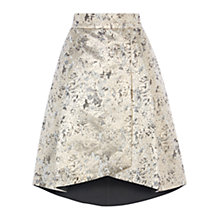 Buy Coast Prinsloo Jacquard Skirt, Gold Online at johnlewis.com