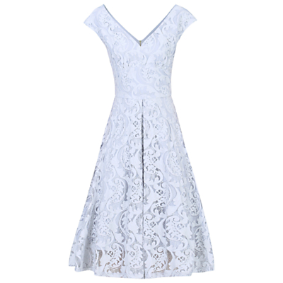 Jolie Moi 50s Lace Fit And Flare Dress, Grey