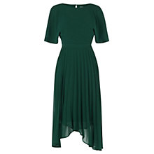 Buy Coast Hermione Pleat Dress, Forest Online at johnlewis.com