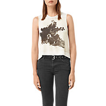 Buy AllSaints Tulipa Cropped Top, Chalk White Online at johnlewis.com