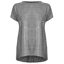 Buy Warehouse Metallic Pleat Back Top Online at johnlewis.com