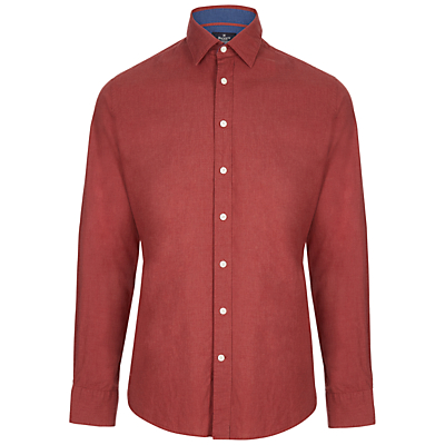 Image of Hackett London Plain Melange Shirt