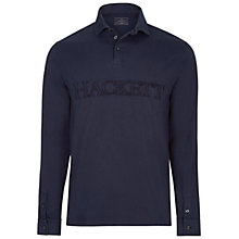 Buy Hackett London Garment Dye Rugby Shirt, Navy Online at johnlewis.com