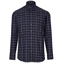 Buy Hackett London Tartan Check Long Sleeve Shirt, Blue Online at johnlewis.com